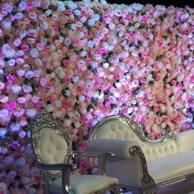 Plush-pink,white-&pink-flower-wall-16×16-3